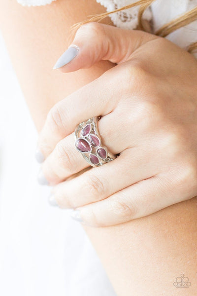 Paparazzi Dreamy Glow - Purple Moonstone - Silver Bands Ring - Glitzygals5dollarbling Paparazzi Boutique