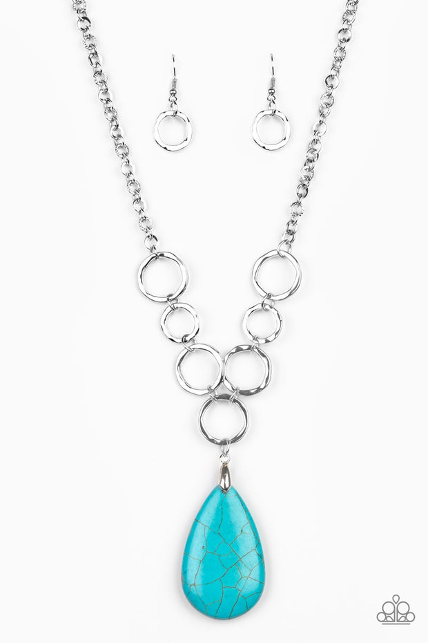 Paparazzi Livin' On A PRAIRIE Blue Necklace - Glitzygals5dollarbling Paparazzi Boutique