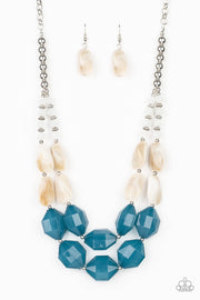 Paparazzi Seacoast Sunset - Blue Necklace - Glitzygals5dollarbling Paparazzi Boutique
