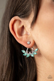 "Paparazzi ""Forest Formal"" Green Post Earrings - Glitzygals5dollarbling Paparazzi Boutique"