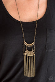 Paparazzi Glam Goddess - Brass Necklace - Glitzygals5dollarbling Paparazzi Boutique