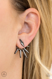 "Paparazzi ""Extra Electric"" Black Post Earrings - Glitzygals5dollarbling Paparazzi Boutique"
