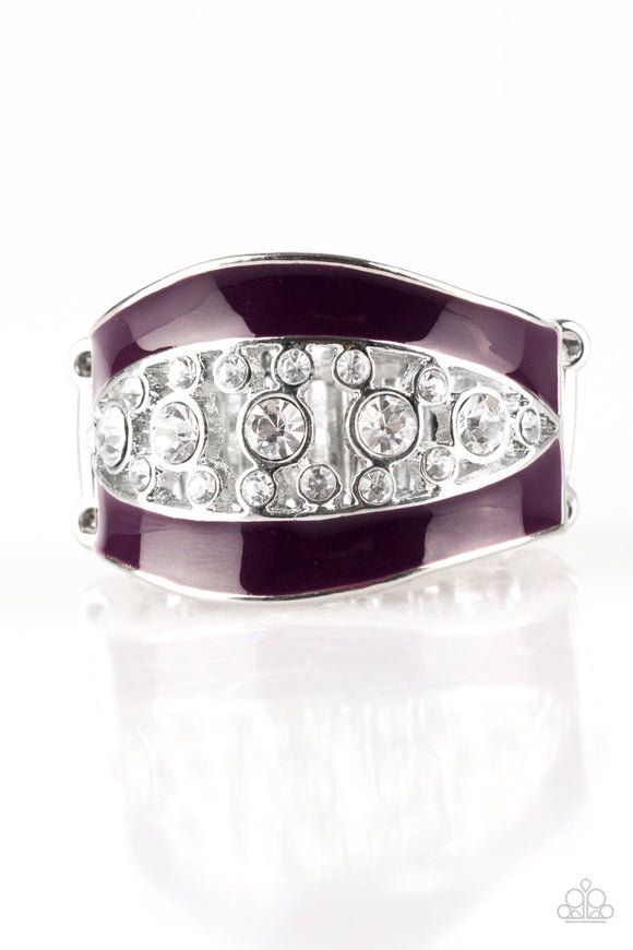 Paparazzi Trending Treasure - Purple - White Rhinestones - Ring