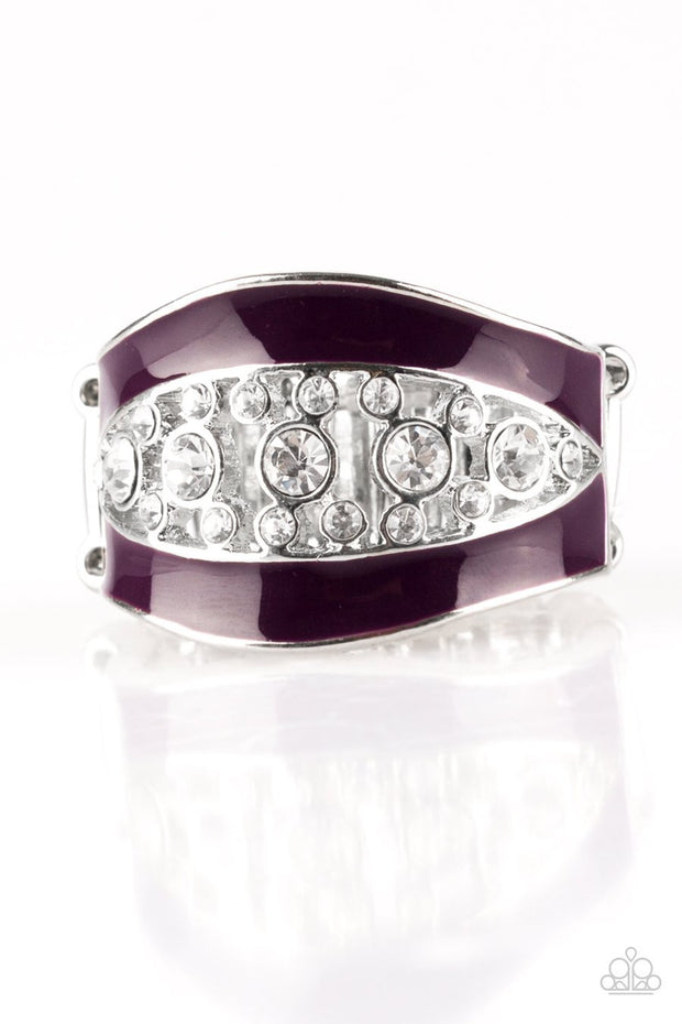 Paparazzi Trending Treasure - Purple - White Rhinestones - Ring - Glitzygals5dollarbling Paparazzi Boutique