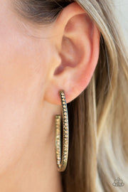 Globetrotting Glitter - Brass Paparazzi Earrings - Glitzygals5dollarbling Paparazzi Boutique