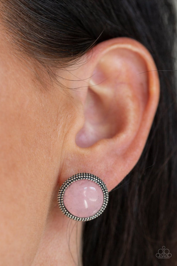 Paparazzi Desert Dew Pink Earrings