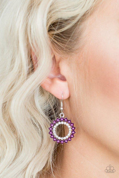 Paparazzi Earring ~ Wreathed In Radiance - Purple
