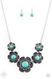 PREORDER Bountiful Badlands - Blue Turquoise Necklace Fashion Fix Exclusive - Glitzygals5dollarbling Paparazzi Boutique