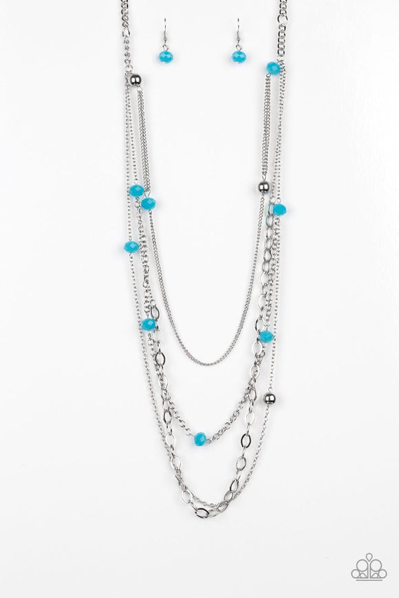 Paparazzi Glamour Grotto Blue Necklace