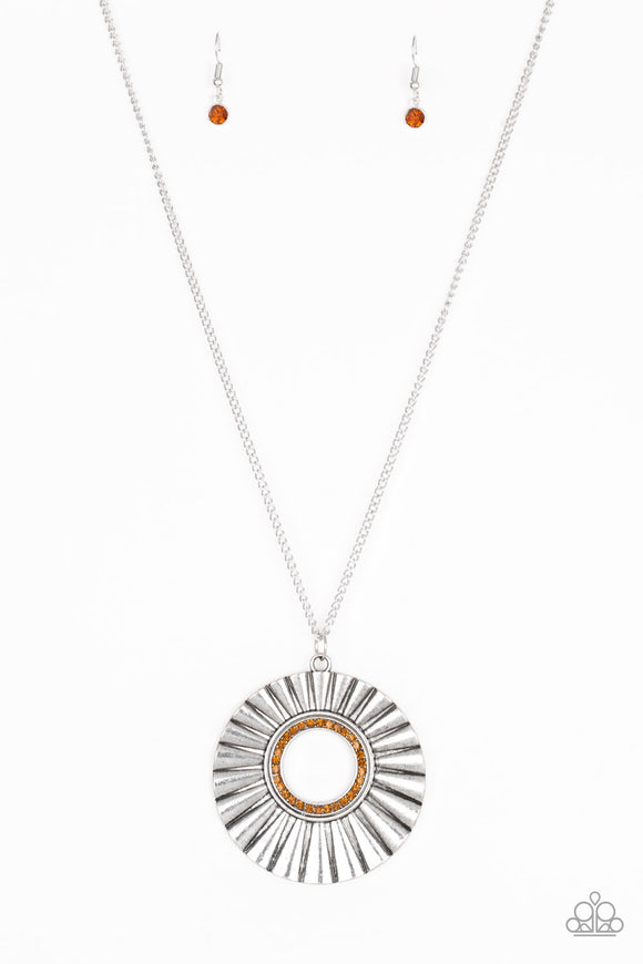 Paparazzi Chicly Centered Brown Necklace
