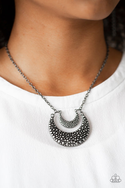 Paparazzi Get Well MOON Silver Necklace - Glitzygals5dollarbling Paparazzi Boutique