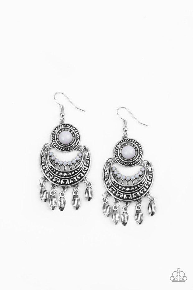 Paparazzi Earring ~ Mantra to Mantra - Silver