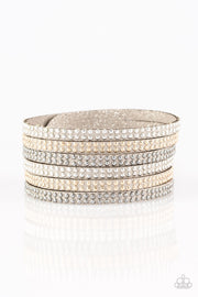 Paparazzi Fight Fire With Fire Silver Urban Bracelet - Glitzygals5dollarbling Paparazzi Boutique
