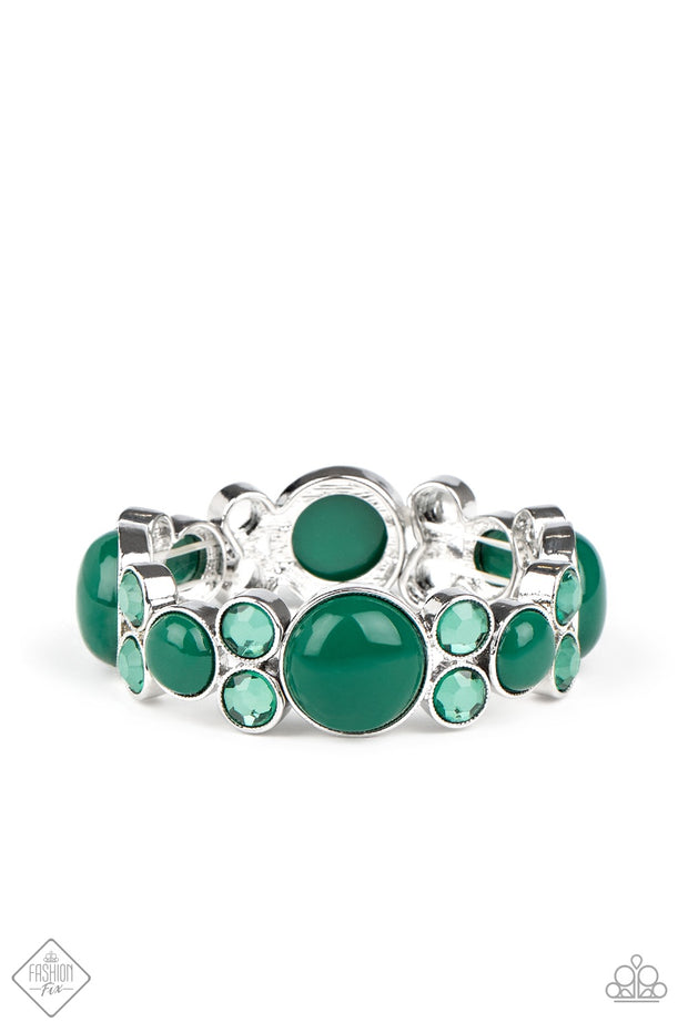 Paparazzi Celestial Escape - Green Bracelet Fashion Fix Exclusive - Glitzygals5dollarbling Paparazzi Boutique