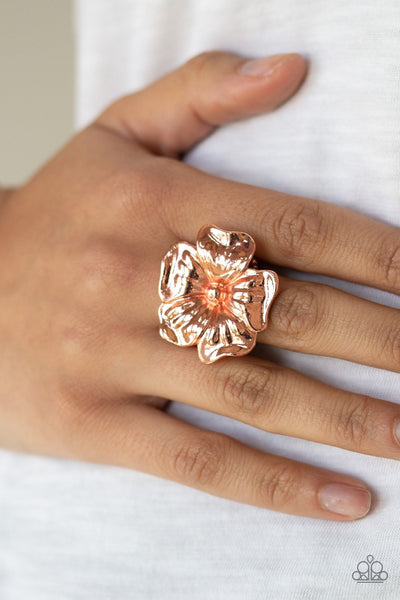 Paparazzi Tropical Gardens - Ring Copper - Glitzygals5dollarbling Paparazzi Boutique