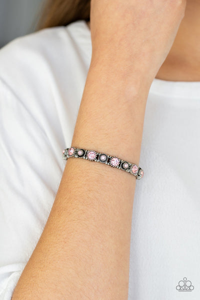 Paparazzi Heavy On the Sparkle Pink Stretch Bracelet - Glitzygals5dollarbling Paparazzi Boutique