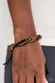 Outdoor Expedition Brown Urban Paparazzi Bracelet - Glitzygals5dollarbling Paparazzi Boutique