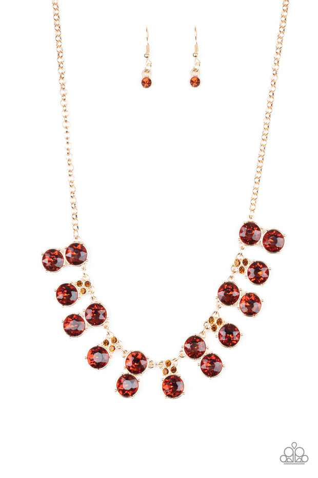 Paparazzi Top Dollar Twinkle - Brown Necklace - Glitzygals5dollarbling Paparazzi Boutique