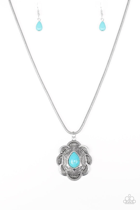 Paparazzi Mojave Meadow Necklace Blue
