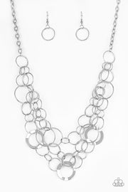 Paparazzi Main Street Mechanics Silver Necklace - Glitzygals5dollarbling Paparazzi Boutique