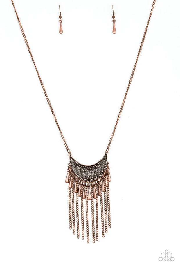 Paparazzi Happy Is The Huntress - Copper Necklace - Glitzygals5dollarbling Paparazzi Boutique