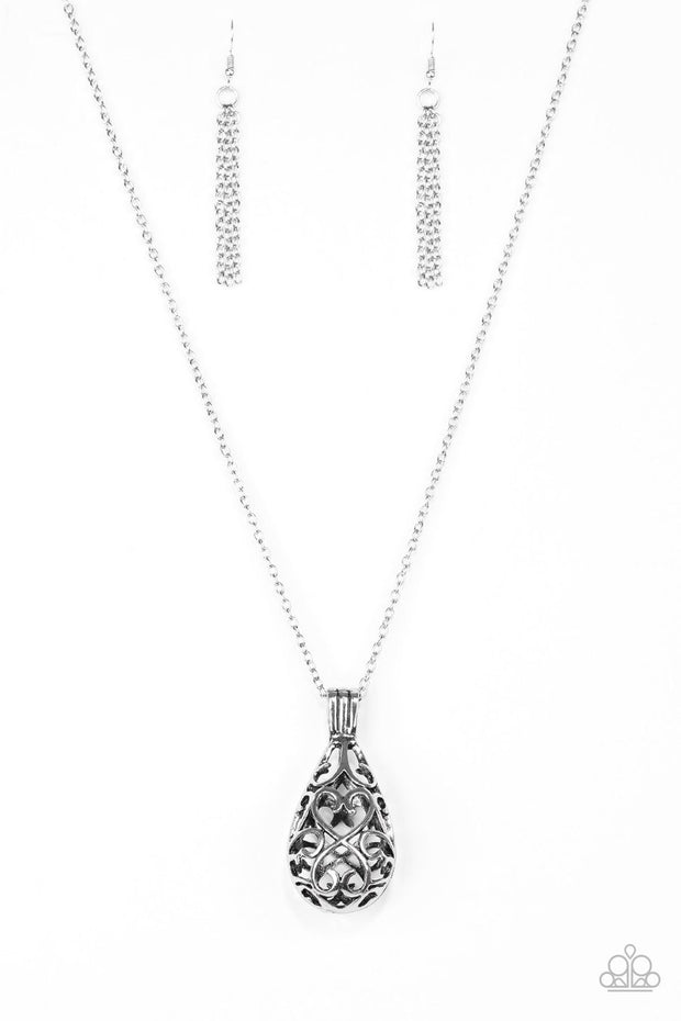 Paparazzi Magic Potions - Silver - Necklace and matching Earrings