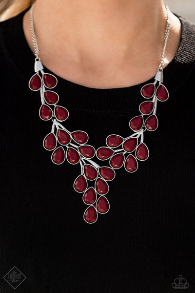 Paparazzi Necklace Fashion Fix Dec 2020 ~ Eden Deity - Red - Glitzygals5dollarbling Paparazzi Boutique