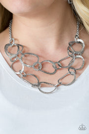 Paparazzi Circus Chic Silver Necklace - Glitzygals5dollarbling Paparazzi Boutique