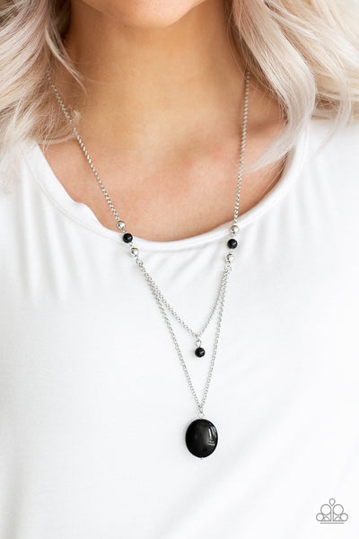 Time to Hit the ROAM - black - Paparazzi necklace - Glitzygals5dollarbling Paparazzi Boutique