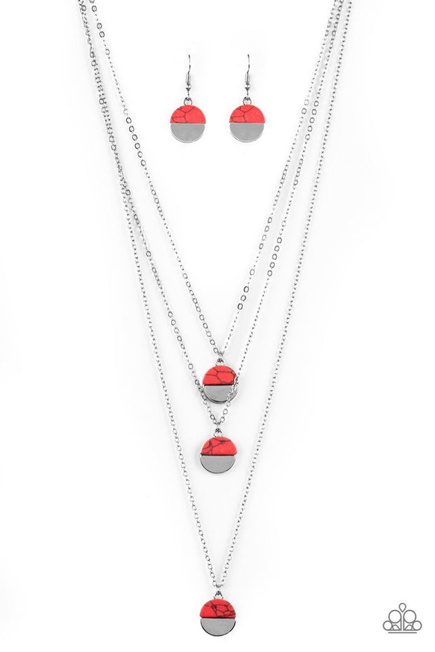 "Paparazzi ""Rural Reconstruction"" Red Necklace - Glitzygals5dollarbling Paparazzi Boutique"