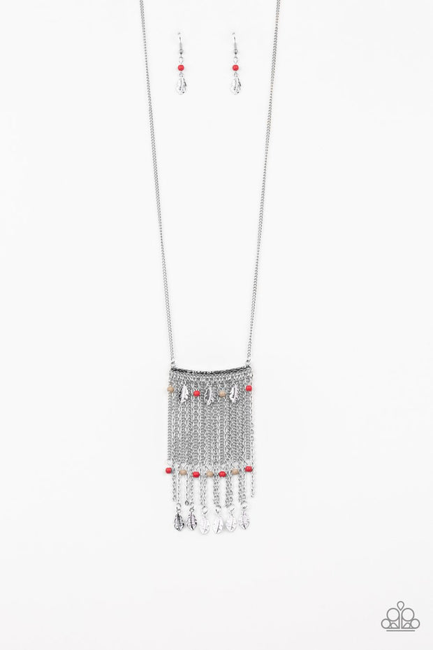 On the Fly - multi - Paparazzi Feather necklace - Glitzygals5dollarbling Paparazzi Boutique