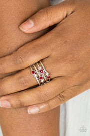 Paparazzi Sparkle Showdown Red Ring - Glitzygals5dollarbling Paparazzi Boutique