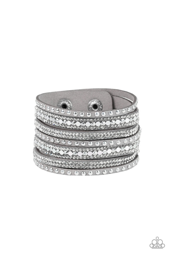 Paparazzi All Hustle and Hairspray Silver Urban Bracelet