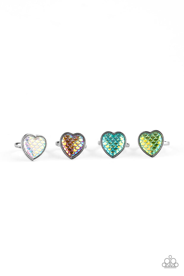 Paparazzi Starlet Shimmer Rings - 10 - MERMAID TAIL HEARTS! White, Blue, Pink, Green & Multicolored. - Glitzygals5dollarbling Paparazzi Boutique
