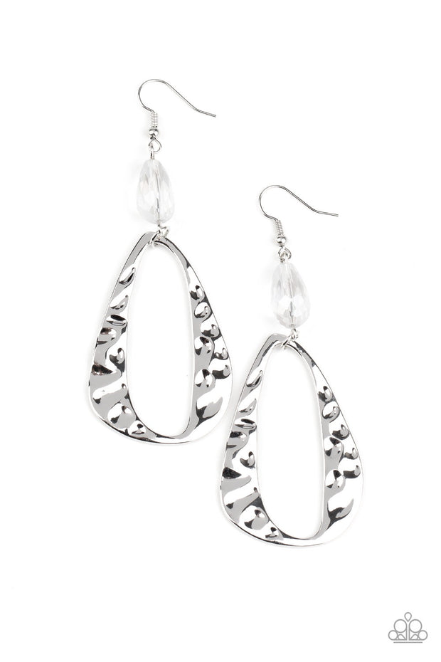 Paparazzi Enhanced Elegance - White Earrings