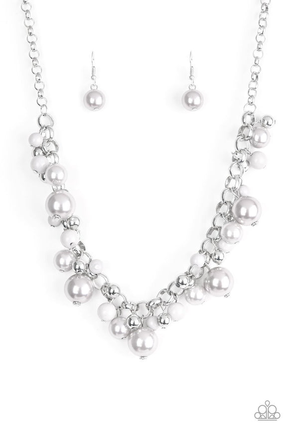 Paparazzi The Upstater Silver Necklace