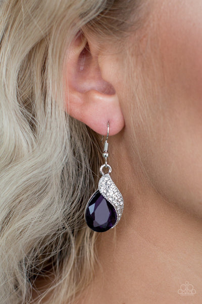 Paparazzi Easy Elegance Purple Earrings - Glitzygals5dollarbling Paparazzi Boutique