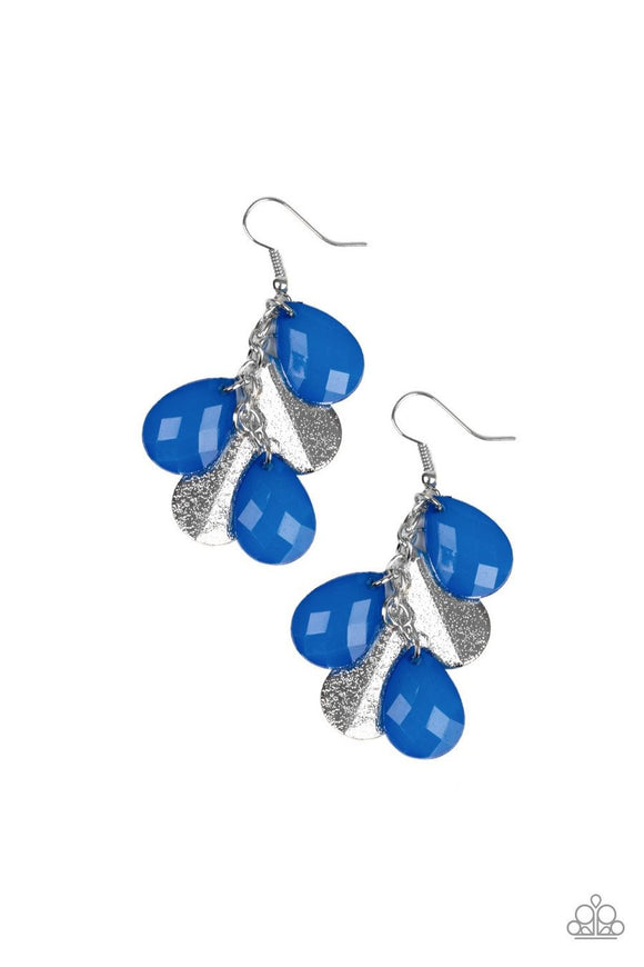 Paparazzi Seaside Stunner - Blue - Silver Teardrop Earrings