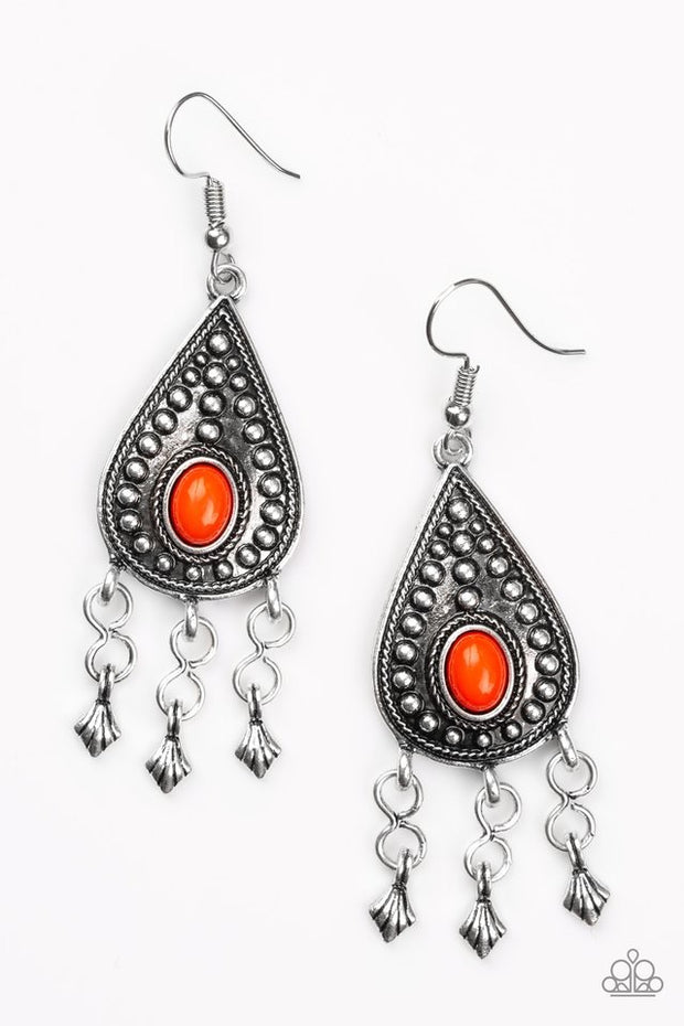 "Paparazzi ""Sahara Song"" Red Earrings - Glitzygals5dollarbling Paparazzi Boutique"