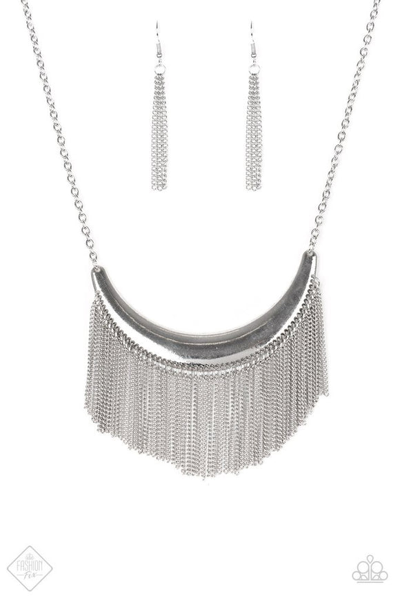 Paparazzi Zoo Zone Silver Necklace Set Fashion Fix Exclusive