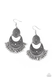 Paparazzi Western Trails - Silver Earrings