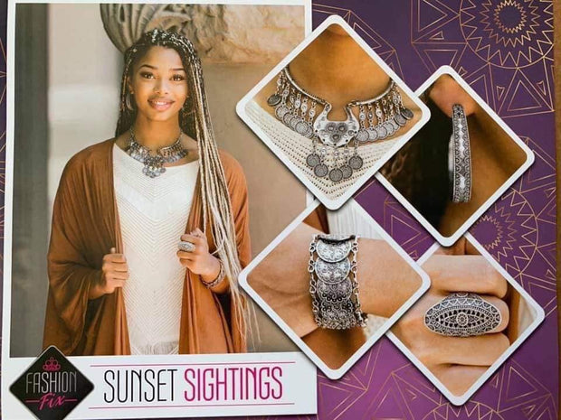 Paparazzi Sunset Sightings Complete Trend Blend Fashion Fix Exclusive Set September 2019 - Glitzygals5dollarbling Paparazzi Boutique