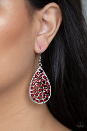 Paparazzi Call Me Ms. Universe Red Earrings - Glitzygals5dollarbling Paparazzi Boutique