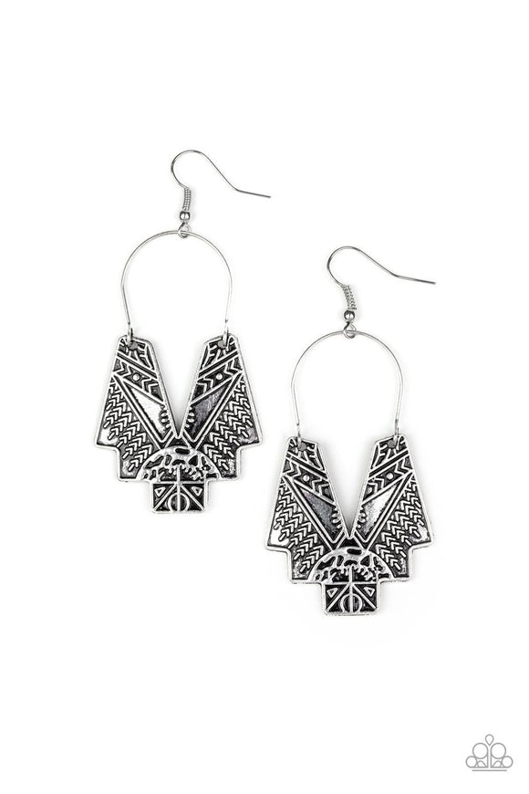 Paparazzi Alternative ARTIFACTS Silver Earrings