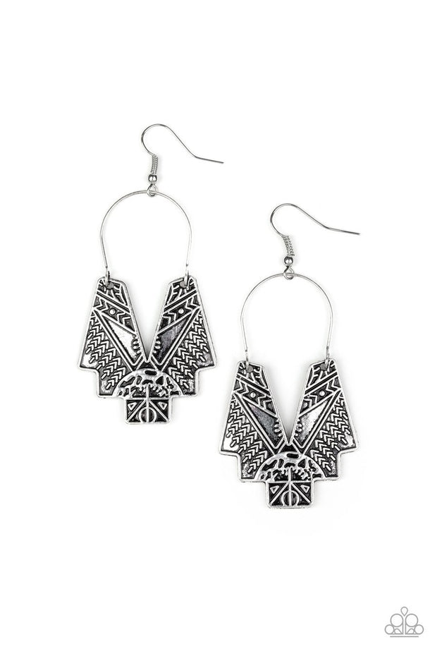 Paparazzi Alternative ARTIFACTS Silver Earrings - Glitzygals5dollarbling Paparazzi Boutique