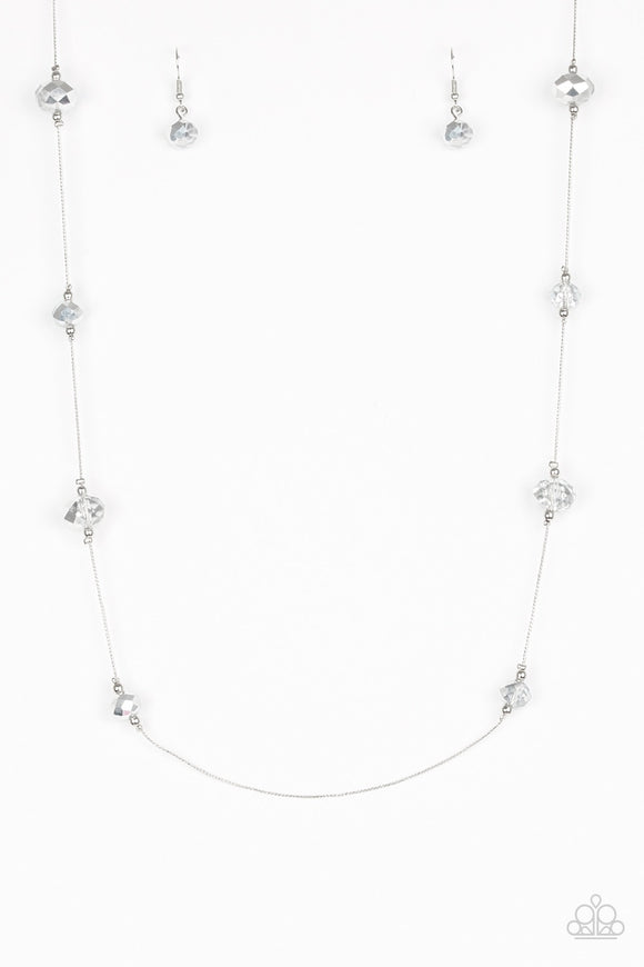 Paparazzi Champagne On The Rocks Silver Necklace