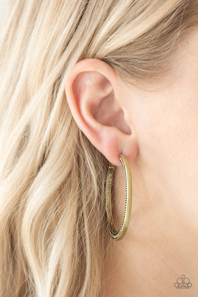 This Is My Tribe - brass - Paparazzi earrings