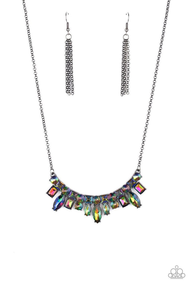 Paparazzi Wish Upon a ROCK STAR Multi Necklace Oil Spill