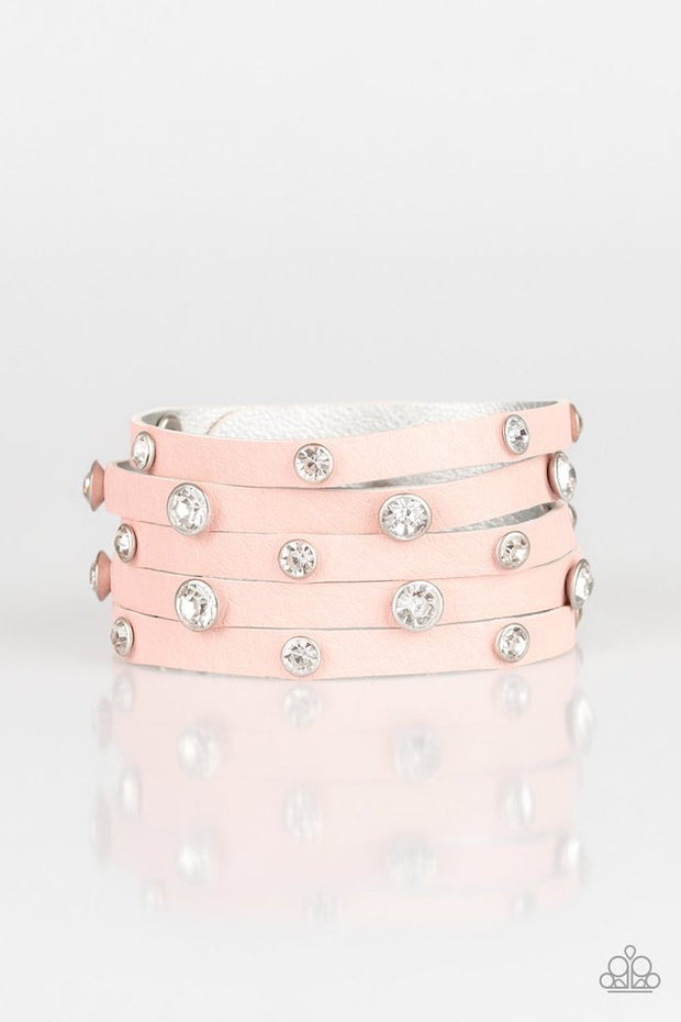 Paparazzi Rhinestone Reputation Pink Urban Bracelet - Glitzygals5dollarbling Paparazzi Boutique