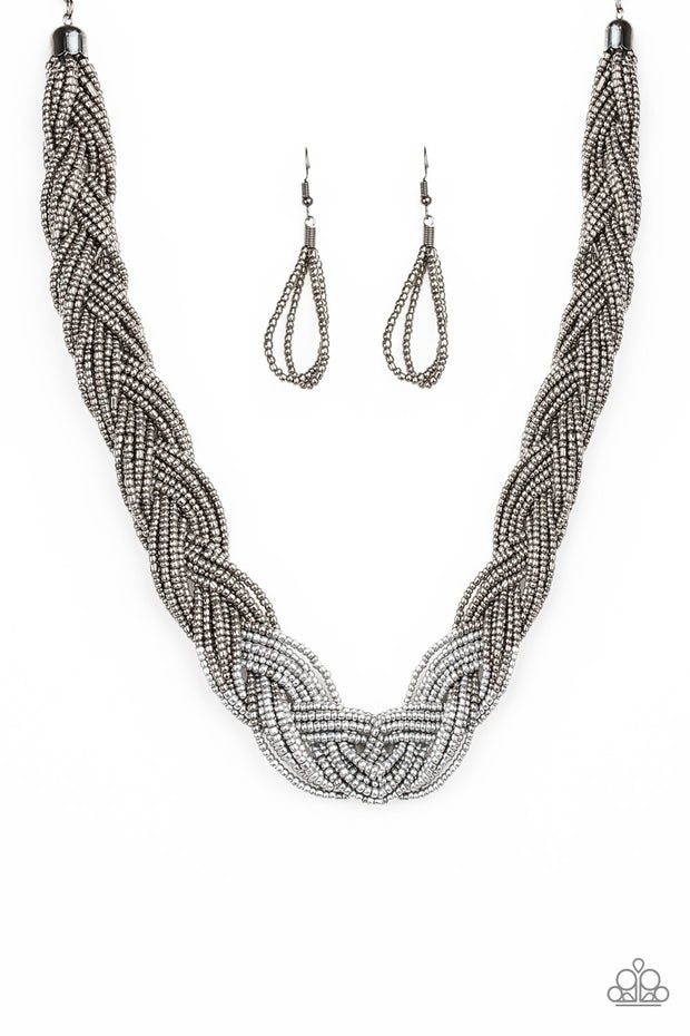 Brazilian Brilliance Silver Paparazzi Necklace - Glitzygals5dollarbling Paparazzi Boutique